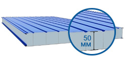 Сэндвич-панель стеновая 50 мм