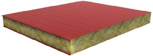 Сэндвич панели с наполнителем из минеральной (базальтовой) ваты